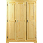 more details on Mendoza 3 Door Wardrobe - Pine.