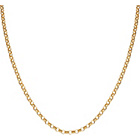 more details on 9ct Gold Round Belcher Chain - 24in.