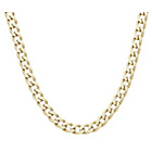 more details on 9ct Gold Plated Silver Solid Curb Chain.