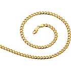 more details on 9ct Gold Plated Silver 0.5oz Curb Chain.
