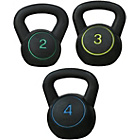 more details on Reebok Vinyl Kettlebells Weight Set - 2kg, 3kg & 4kg.