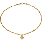 more details on 9ct Gold Cubic Zirconia Heart Curb Anklet.