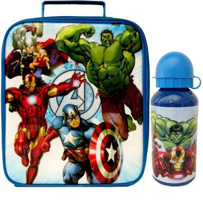 Avengers Lunch Bag and Bottle