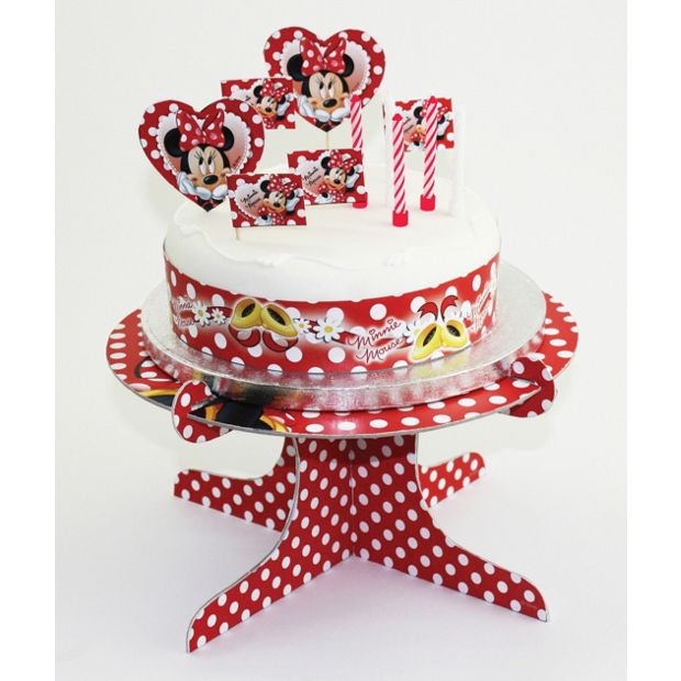 Buy Minnie Mouse Cake Decorating Kit and Cake Stand at ...