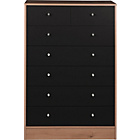 more details on New Malibu 5+2 Drawer Chest - Black on Pine.