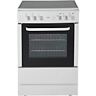 more details on Bush BESC60W Single Electric Cooker - White/Ins/Del/Rec.