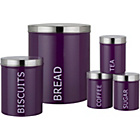 more details on ColourMatch 5 Piece Storage Set - Purple Fizz.