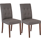 more details on Collection Adaline Pair of Walnut Effect Dining Chairs.