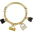 more details on Gold Coloured Handbag Charm Bracelet.
