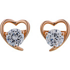more details on Diamonite 18ct Rose Gold Plated CZ Heart Stud Earrings.