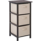 more details on Mali 3 Drawer Hall Storage Unit - Black and Cream.