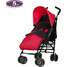 more details on Obaby Atlas Black/Grey Stroller - Red with Red Footmuff.