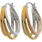 more details on Silver and 18ct Gold Plated Silver 3 Colour Creole Earrings.