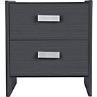 more details on New Capella 2 Drawer Bedside Chest - Black Effect.