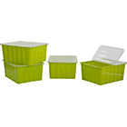 more details on ColourMatch 48L Apple Green Plastic Storage Box - Set of 4