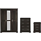more details on Mendoza 3 Piece 3 Door Wardrobe Package - Walnut Effect.