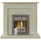 more details on Adam Sutton Electric Fire Suite - Ivory.
