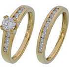 more details on Made for You 18ct Gold 1.00ct Diamond Bridal Ring Set - T.