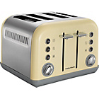 more details on Morphy Richards 242003 4 Slice Accents Toaster - Cream.