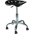 more details on Gas Lift Height Adjustable Office Stool - Black.