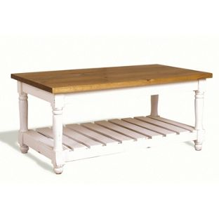 Catalan Coffee Table with Turned Legs - White, width 45cm