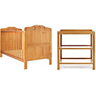 more details on Obaby Lisa 2 Piece Furniture Nursery Set - Country Pine.