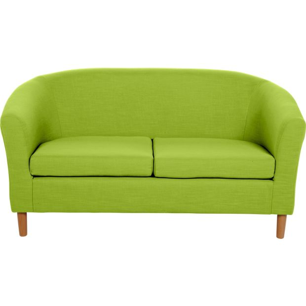 buy colourmatch 2 seater fabric tub sofa apple green at your online shop for. Black Bedroom Furniture Sets. Home Design Ideas