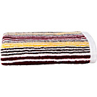 more details on Kingsley Lifestyle Stripe Hand Towel - Sangria.