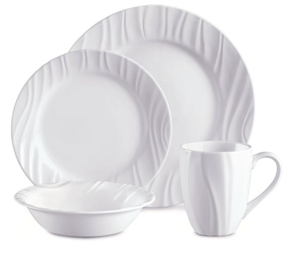 buy corelle swept 16 piece set white at your online