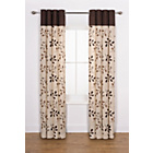 more details on Honeysuckle Curtains - 168 x 229cm - Chocolate.