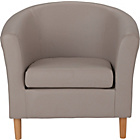 more details on ColourMatch Leather Effect Tub Chair - Cafe Mocha.