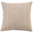 more details on Heart of House Logan Cable Knit Cushion - Oatmeal.