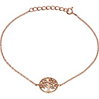 more details on 9ct Rose Gold Plated Silver CZ Tree of Life Bracelet.