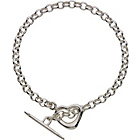 more details on Sterling Silver Heart and Arrow T-Bar Bracelet.