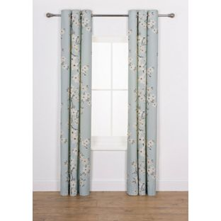 Buy Blossom Curtains - 117 x 183cm - Duck Egg at Argos.co.uk ...
