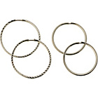 more details on 9ct White Gold Sleeper Hoop Earrings - Set of 2 Pairs.