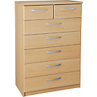 more details on Collection New Hallingford 5+2 Drawer Chest - Beech Effect.