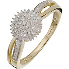 more details on 9ct Gold 0.25ct Diamond Cluster Ring.