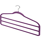 more details on 6 Piece Velvet Trouser Hanger Set - Violet.