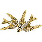 more details on Gold Coloured Crystal Swallow Brooch.