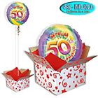 more details on Happy 50th Birthday Balloon in a Box.