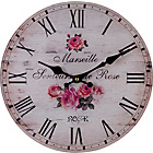 more details on Collection Faded Rose Glass Wall Clock.