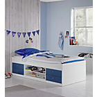 more details on Malibu Single Cabin Bed with Bibby Mattress -Blue on  white.