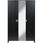 more details on HOME New Capella 3 Door Mirrored Wardrobe -Black Ash Effect.