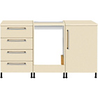 more details on Valencia 3 Piece Oven Kitchen Unit Package - Cream.