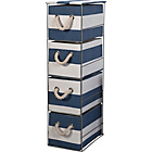 more details on Tall 4 Drawer Storage Tower - Blue and White.