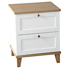 more details on Arcola 2 Drawer Bedside Chest - White.