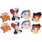more details on Disney Jake and the Never Land Pirates Pack of 8 Party Masks