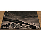 more details on City Skyline Rug 160 x 120cm - Black and Grey.