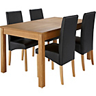more details on Heart of House Bromfield Table & 4 Black Chairs.